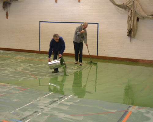 Polyurethane Floor Repairs For Sports Halls And Gymnasium Floors